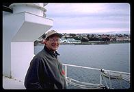 Port Stanley, Falklands - K0IR on the Braveheart - Feb 2002