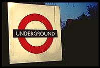 London - Underground Sign - Jan 2002