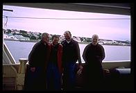 Port Stanley, Falklands - L to R Nigel, K5TR, Gary and EI5IQ - Feb 200