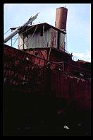 South Georgia - Husvik - Boat in dry dock - Jan 2002