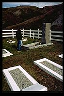 South Georgia - Shackleton grave and W7EW - Jan 2002