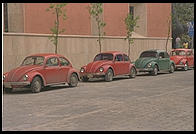 Four Volkswagens in Mexico